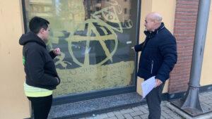Galliate, Spazio Gajà: «Ennesimo atto di vandalismo»