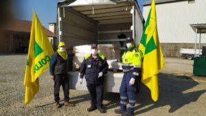 Coldiretti Novara Vco dona dieci quintali di riso alla protezione civile