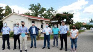 Dall'Omar 80 visiere protettive agli agenti della Polizia locale